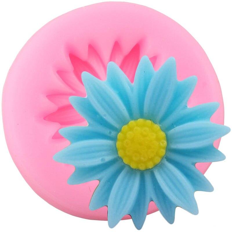 DIY Daisy Silikon Formen Blume Kuchen Dekorieren Werkzeuge Süßigkeit Polymer Clay Schokolade Gumpaste Formen Cupcake Topper Fondant Mould