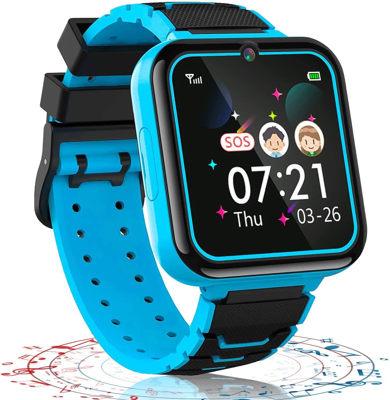 Game watch Kids Smart watch,16 Games Music Phone Smartwatch for Boys Girls SOS Camera Calculator Ala