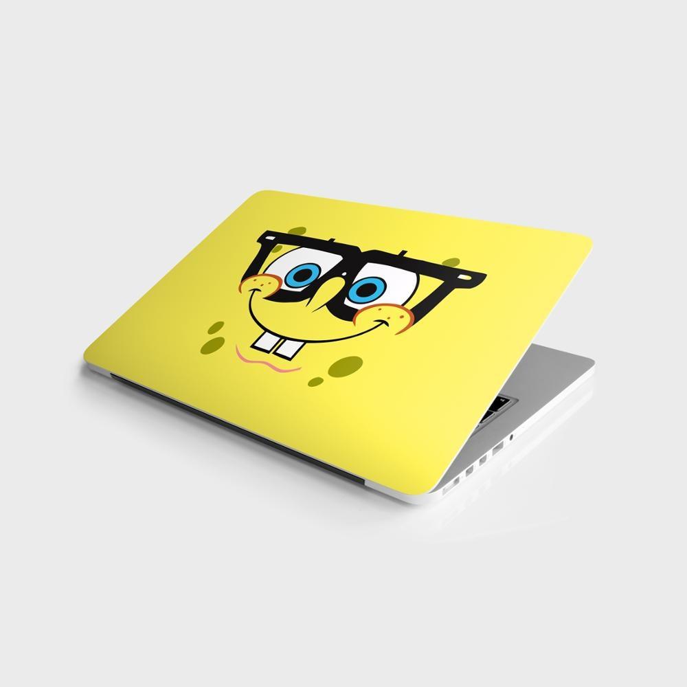"Sticker Master Sponge Bob intelligent universal laptop skin for 13 14 15 15.6 16 17 19 ""inc notebook decal mac, dell, hp, lenovo, huawei"
