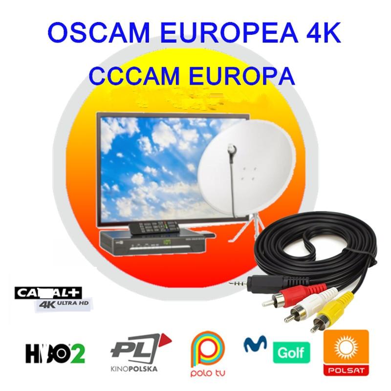 Oscam Europea Cline Германия Clines Испания Польша для Европы Португалия Enigma 2 Sat ресивер Movistar DAZN 4K Cccam Europa сервер