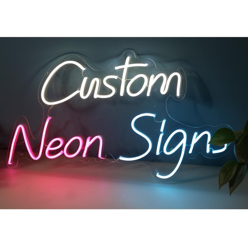 شعار نيون مخصص ضوء LED فليكس لوح أحرف في الهواء الطلق داخلي ديكور للتعليق على الحائط ، يرجى الاتصال بالبائع قبل الطلب.