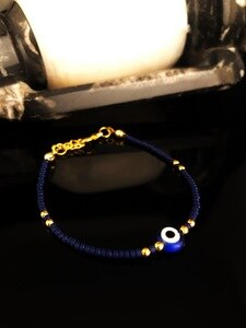 Dr Stone Natural Stone Women Lapis Lazuli Stone Gold Plated Bracelet 439749469