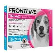 Frontline Tri-Handeln hunde 10-20 kg 3 pipetten. Anti-parasitäre pipetten für hunde