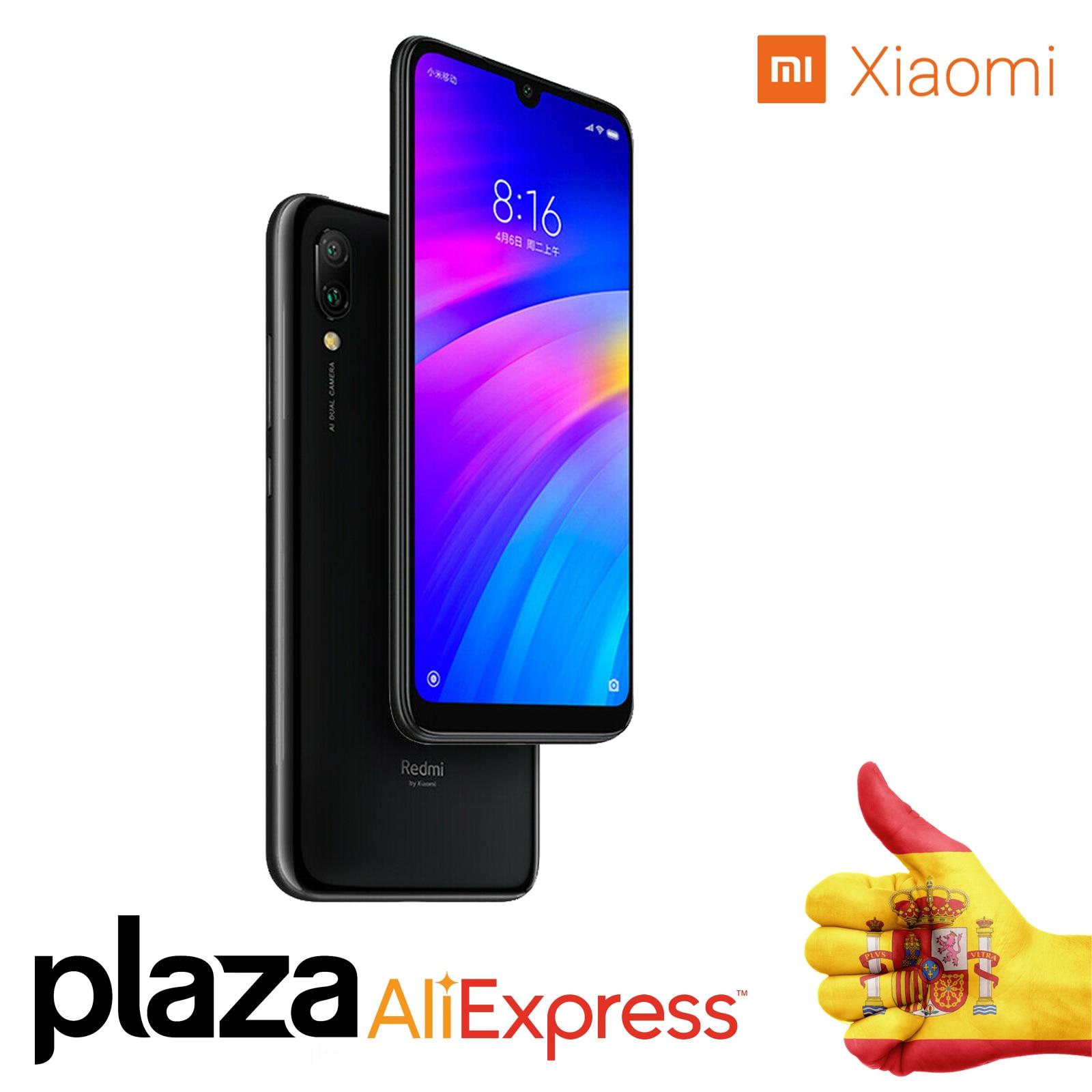"Versión Global Xiao mi Redmi 7 3 GB 32 GB teléfono móvil Snapdragon 632 Octa Core 4000 mAh AI cara desbloquear 6,26 ""12 MP 2 MP"