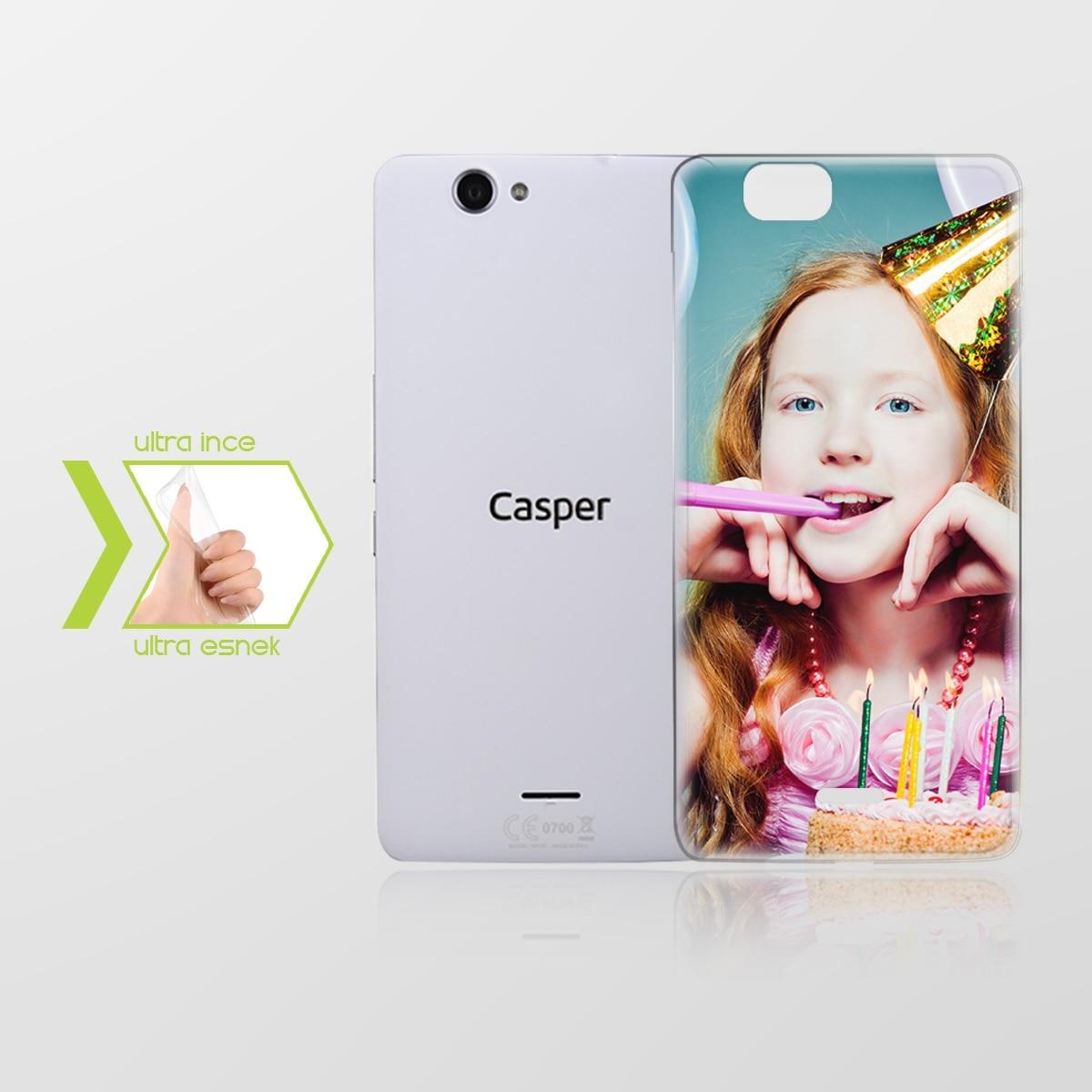 Funda de teléfono de silicona transparente delgada hecha a medida para Casper Via V6