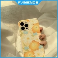 painting protect phone case for iphone 11 12 pro max mini xr x xs max 7 8 plus full lens protection shockproof case cover