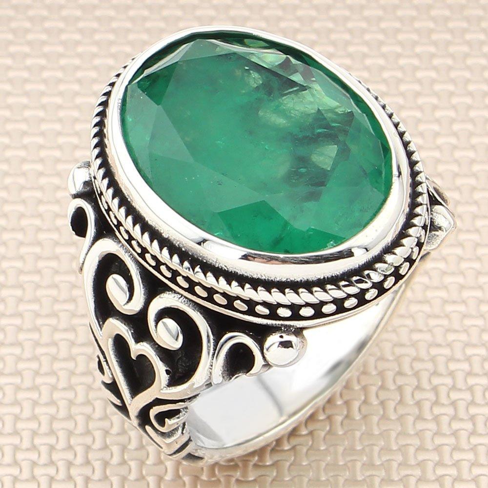 SILVERFONI-خاتم رجالي من الفضة الإسترليني عيار 925 مرصع بحجر الزركون ، مجوهرات أنيقة ، هدية حجر العقيق ، إكسسوارات رجالية ، جميع الأحجام ، 2021