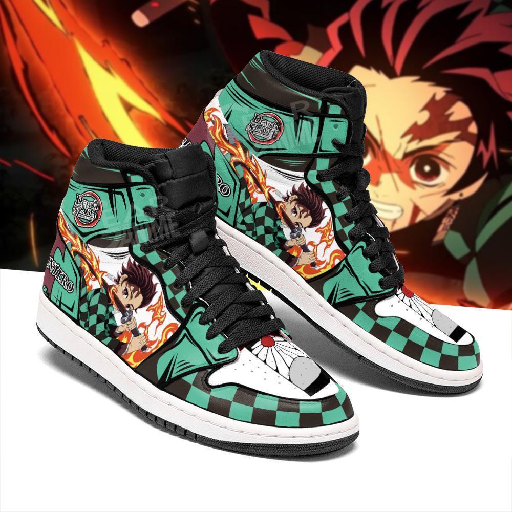 Tanjiro أحذية الشمس التنفس شيطان القاتل مخصص أنيمي أحذية رياضية