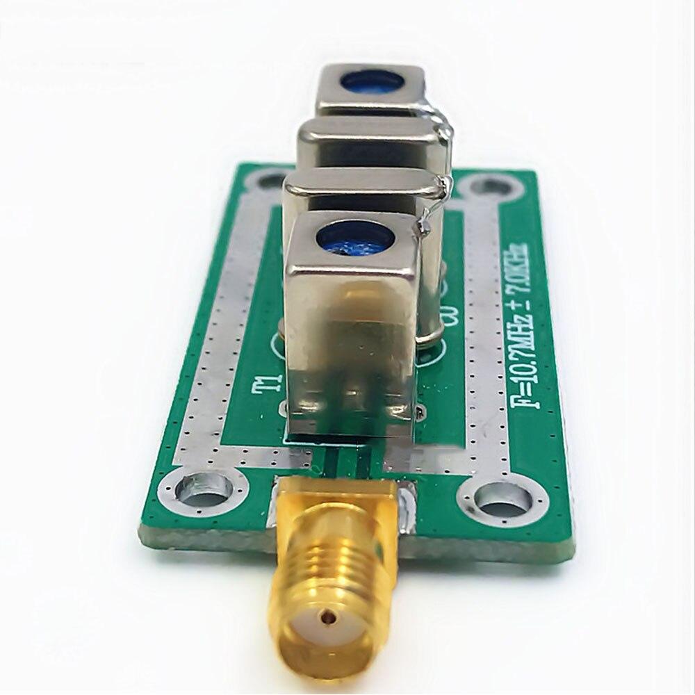 Cristal de cuarzo Taidacent filtro de paso de banda RF Filtro de banda estrecha 10,7 MHz 7 7KHz FILTRO DE 10,7 M para instrumentos especiales