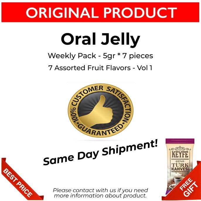 Gelée orale originale, saveurs de fruits assorties, gelée orale originale, paquet hebdomadaire, 5gr * 7 pièces, 1 Vol, satisfaction du client, 1 Vol, livraison gratuite