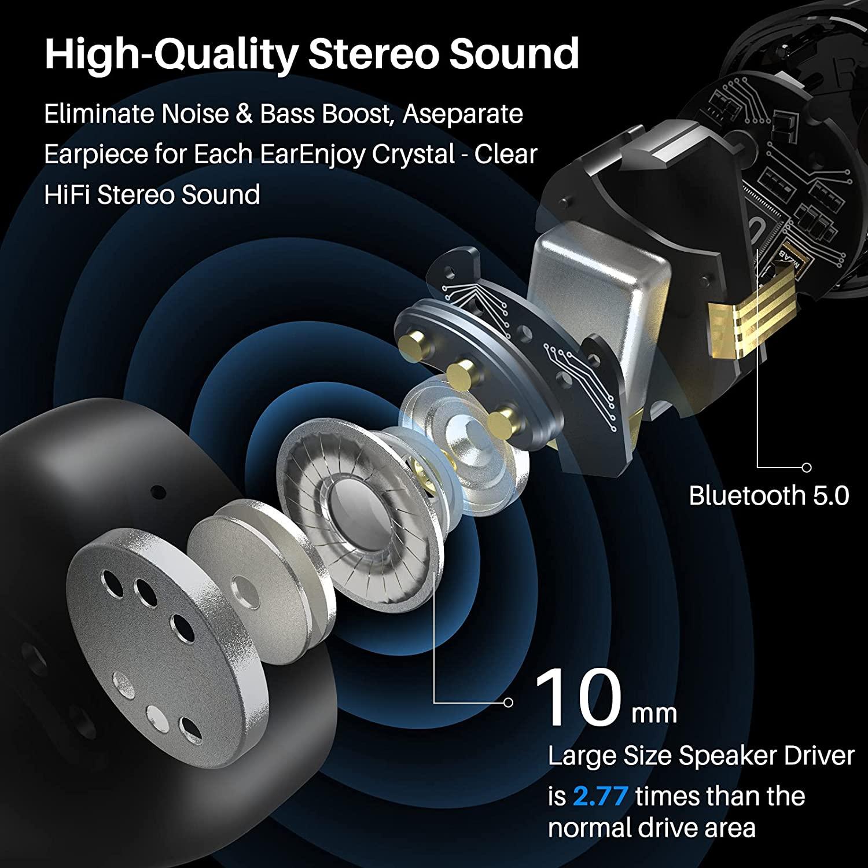 TOZO T12 Pro Earphone Bluetooth Wireless Headphones Premium Fidelity Headset With Charging Case IPX8 Earbuds Tws Earphones enlarge