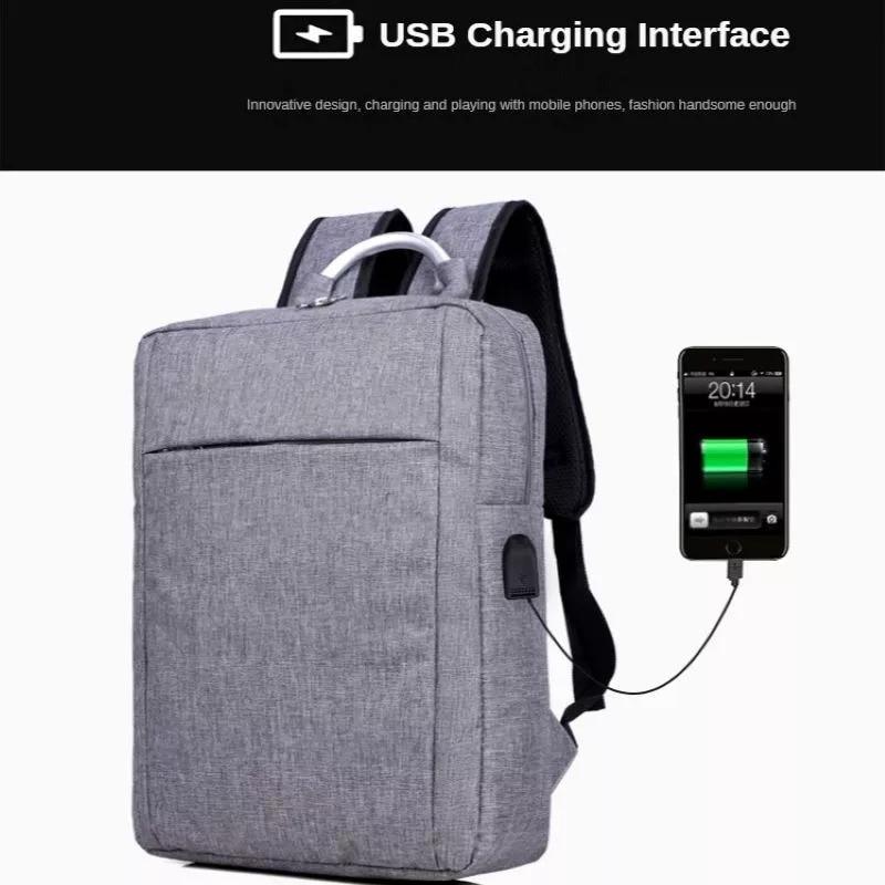 Sac à dos pour hommes, personnalisé, à la mode, voyage d'affaires, pour ordinateur portable, Interface de chargement USB, sac d'