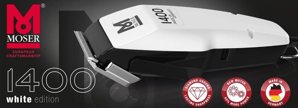 Moser 1400 White Edition Professional Hair Clipper Hair Trimmer Beard Trimmer Hair-Beard Cut Machine Kit enlarge