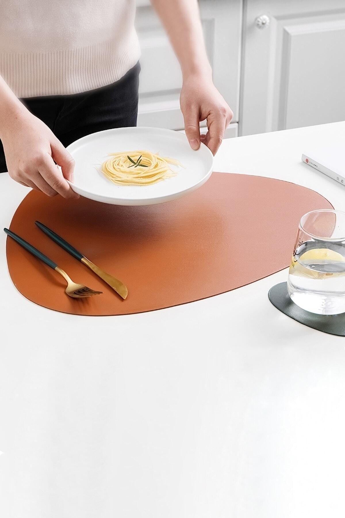 12 unids/set manteles de mesa de Color mate de comedor de posavasos...