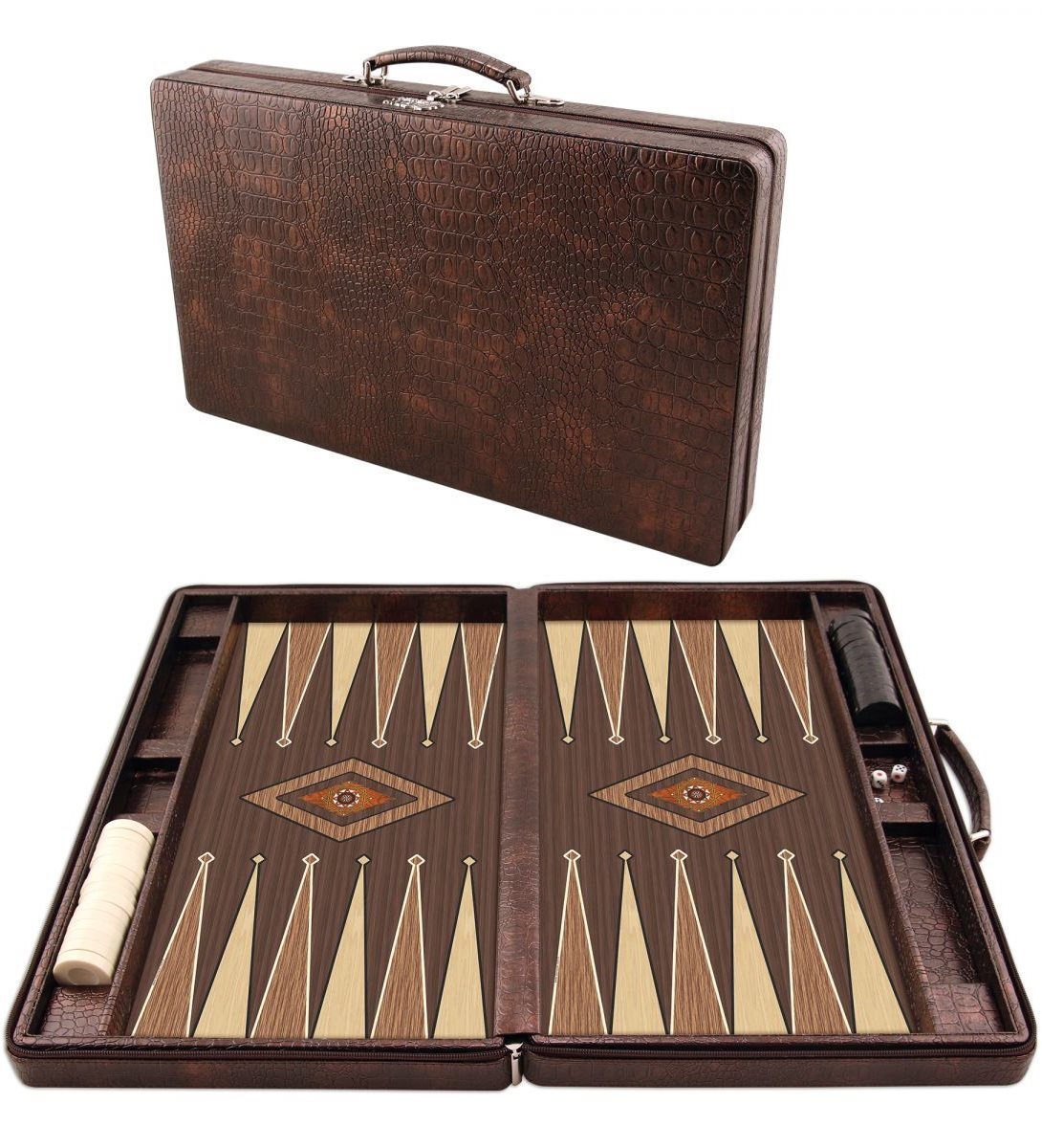 Board game backgammon set leisure wooden outdoor toys gift hand travel games chessboard large size bag leather orginal large mahjong portable wooden boxes set table game mah jong travelling board game indoor antique leather box english manual
