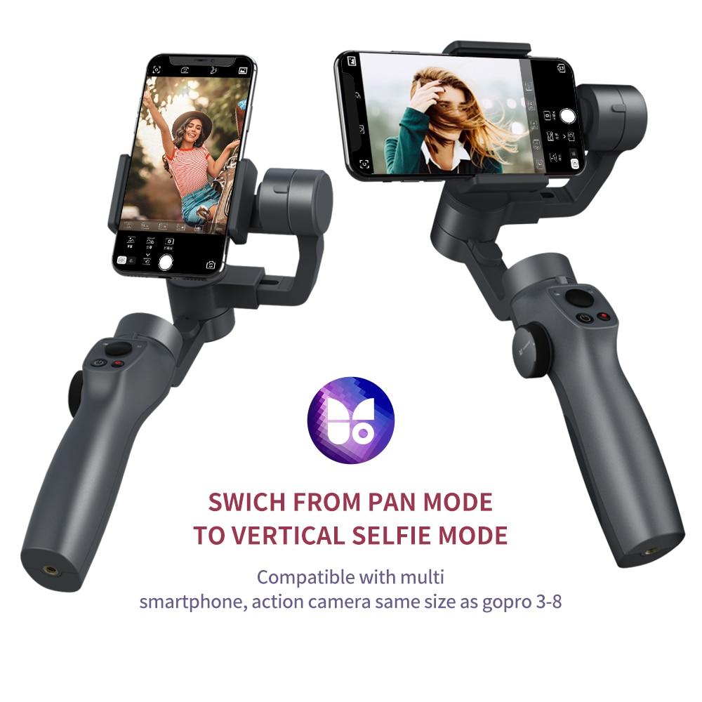 Funsnap Capture2 3Axis Handheld Gimbal Stabilizer For Smartphone Samsung Iphone Gopro Camera Action EKEN  Gimbal Kit IOS Android enlarge