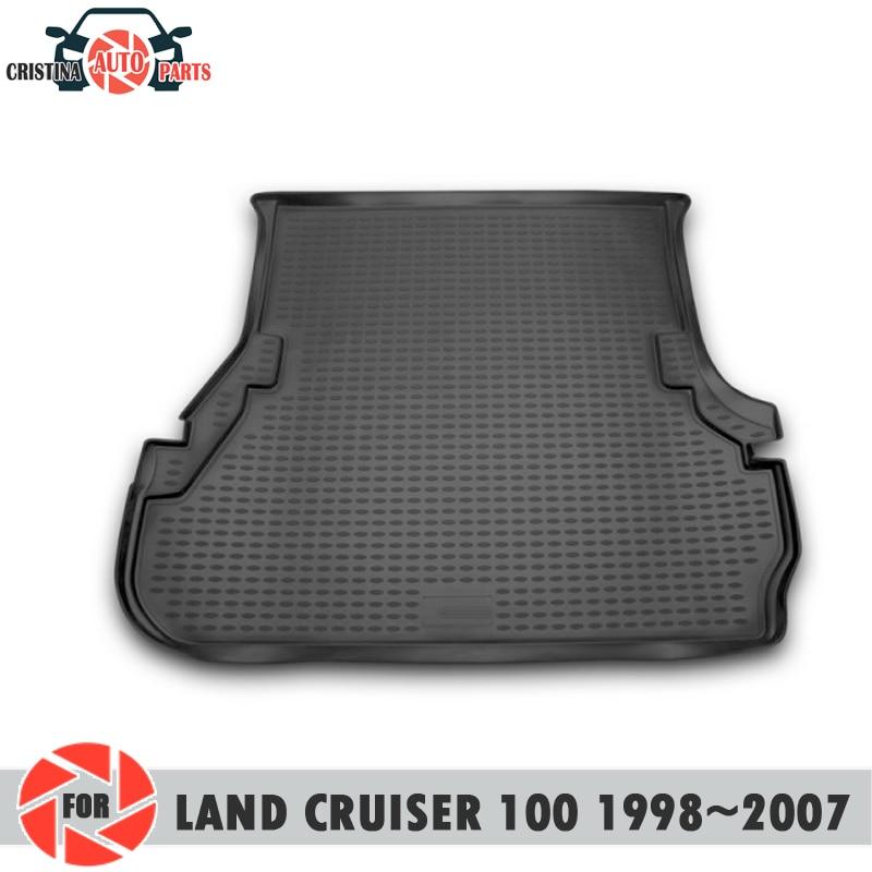 Mat tronco para Toyota Land Cruiser 100 1998-2007 maletero alfombras de piso antideslizante poliuretano tierra maletero estilo de coche