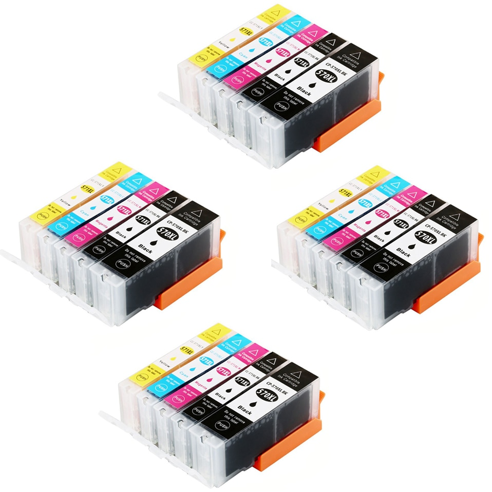 20 Cartuchos pgi570 PGI 570 cli5715-6 cli57110-15-20 de recambio Compatible para impresora Modelo Pixma TS5050