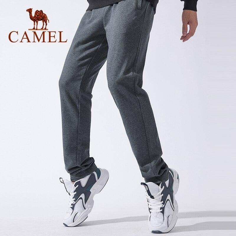 Camelo cinza preto sweatpants para homens 2020 outono calças esportivas com cordão ajustável calças de fitness casual correndo
