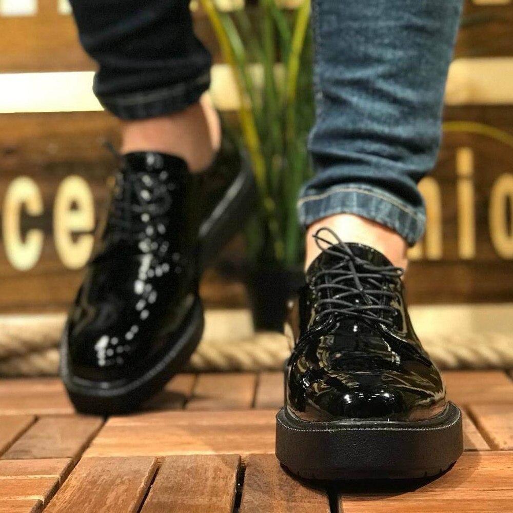 Chekich CH001 лакированная кожа черная подошва мужская обувь черная. 100 Vegan 100 хлопковые кроссовки air van chaussure Лоферы для тренировок uomo