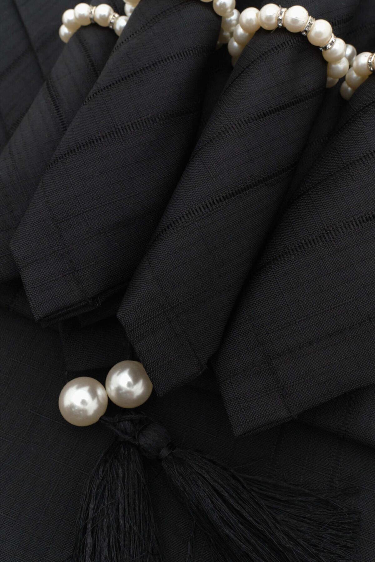 ربيع أسود 26 قطعة مجموعة عشاء-أسود