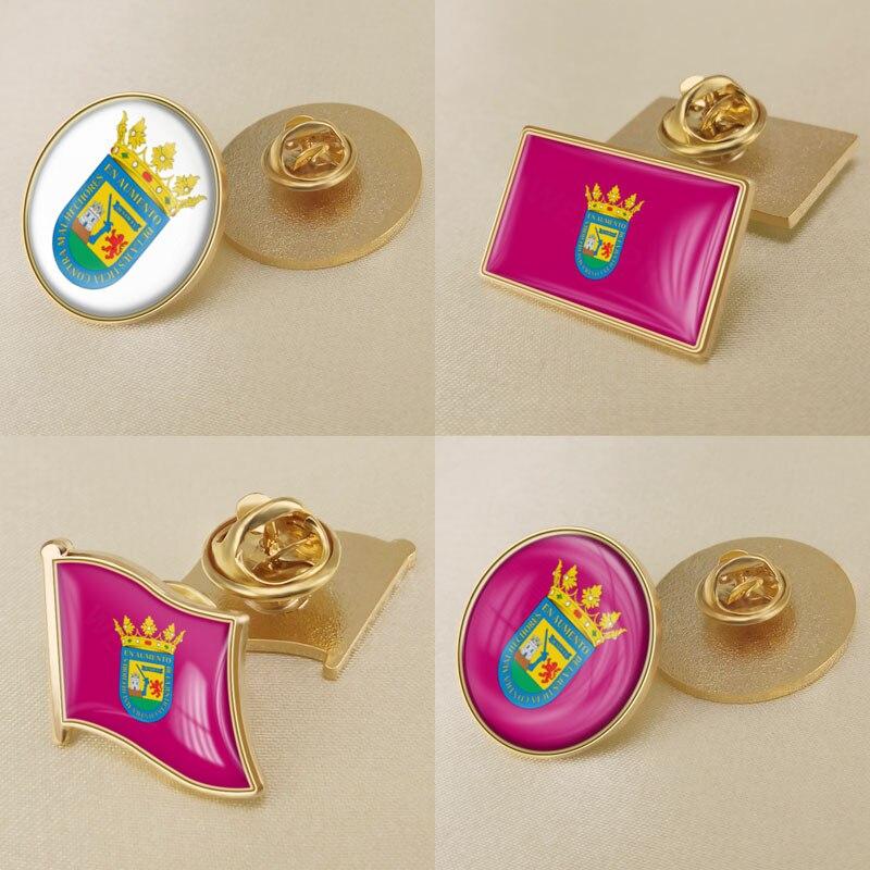 Brasão de armas de alava província de espanha bandeira lapela pinos/broches/emblemas