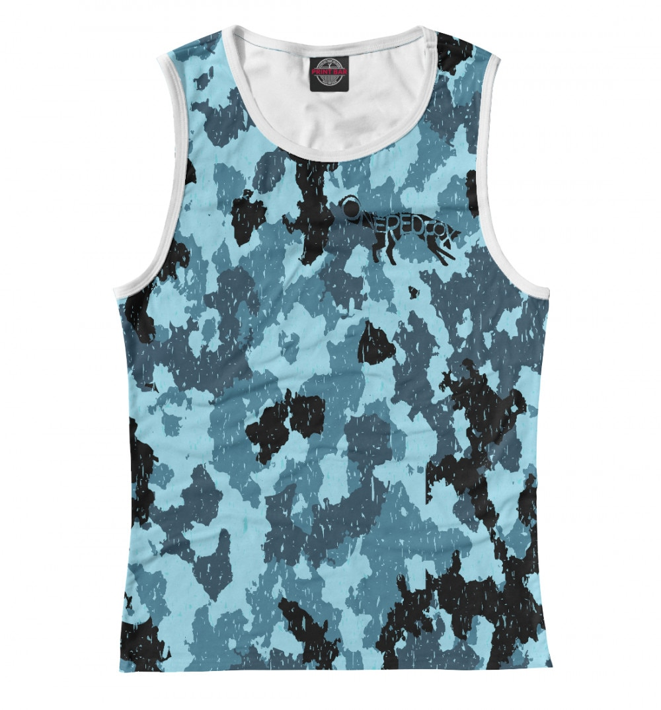 Camiseta de camuflaje azul para mujer