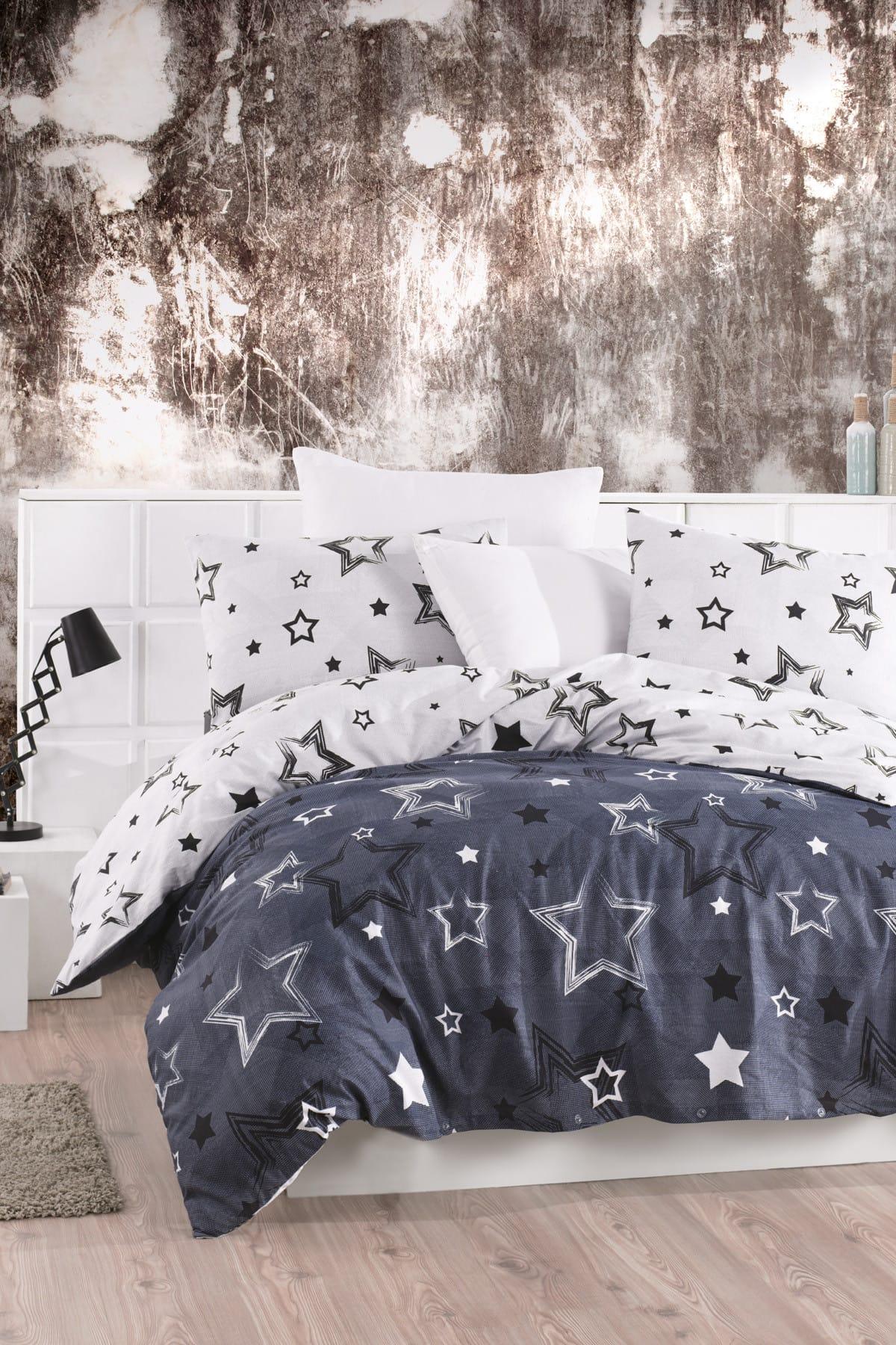 LadyModa-مجموعة غطاء لحاف مفردة بنجوم ، وأنماط جديدة تمامًا لغرف النوم الخاصة بك