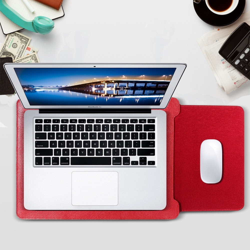 Leather MacBook universal inner case bag notebook four piece storage Laptop  Laptops leather Applicable mo