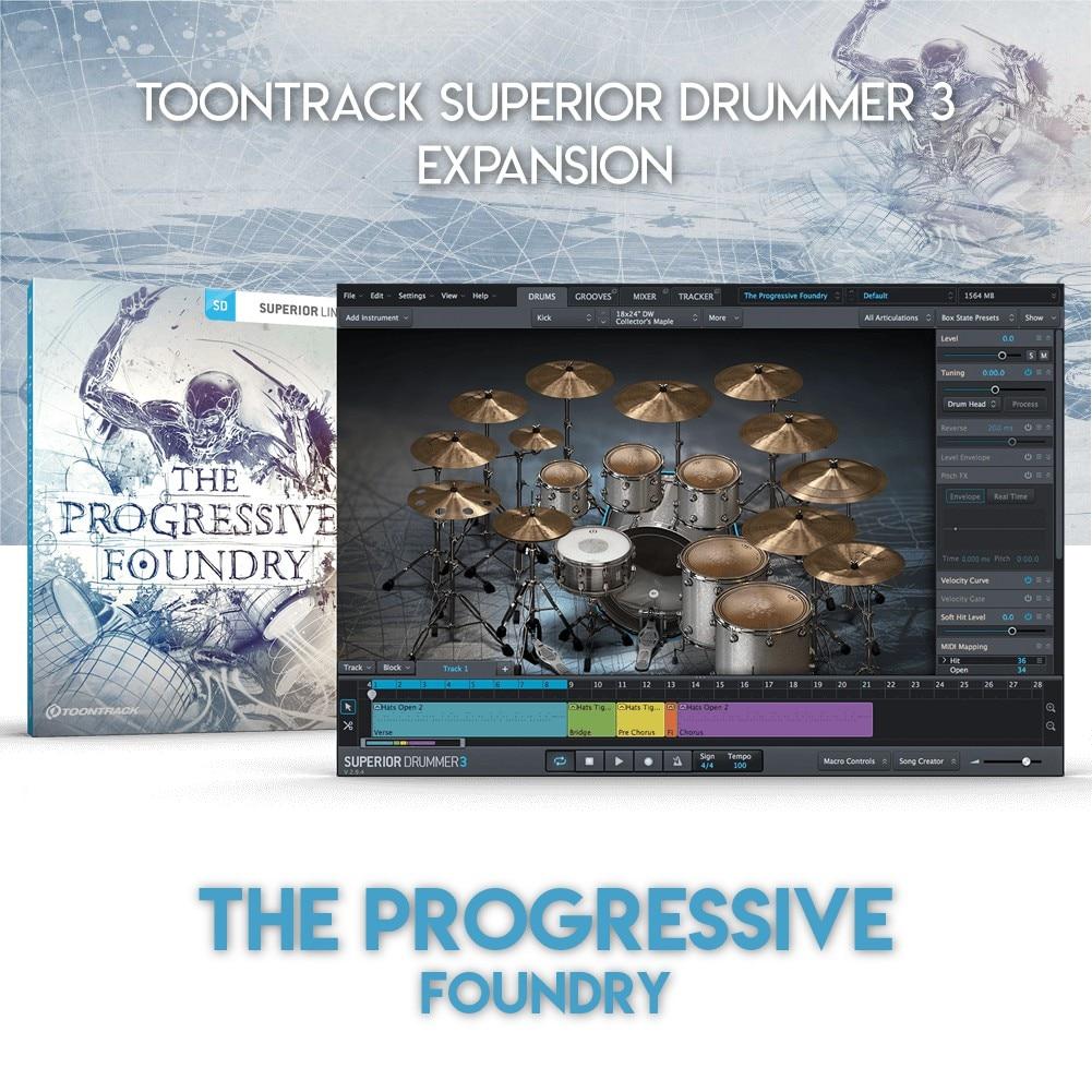 THE PROGRESSIVE FOUNDRY - TOONTRACK SUPERIOR DRUMMER 3 EXPANSION (WINDOWS 64BIT VSTi)