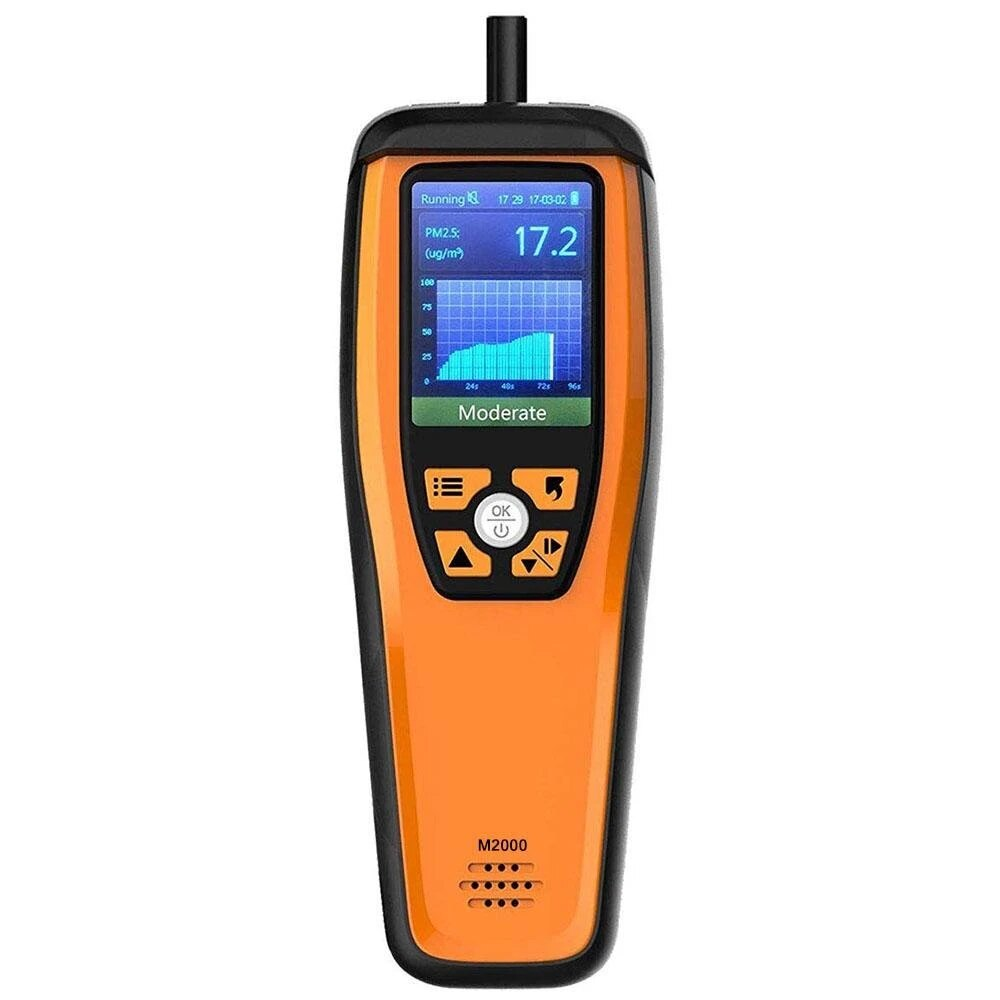 Temtop M2000 Air Qualität Monitor für PM 2,5 PM10 Partikel CO2 HCHO Temperatur Feuchtigkeit Einstellbare Audio Alarm Aufnahme