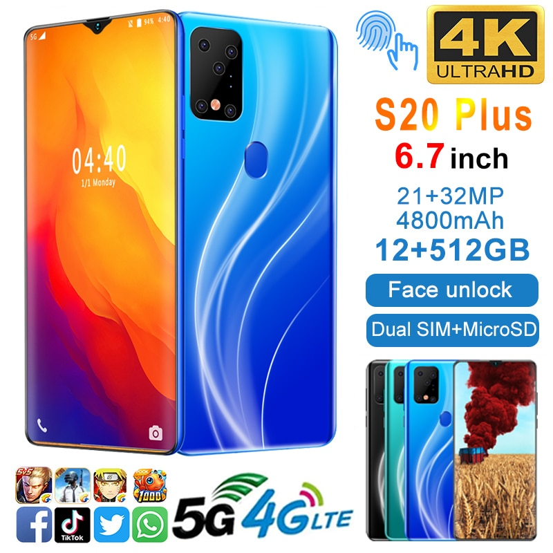 2021-universal-5g-lte-s20-plus-smartphone-6-7-inch-display-android-mobile-phone-12gb512gb-mtk6799-10-core-face-unlock-cellphone