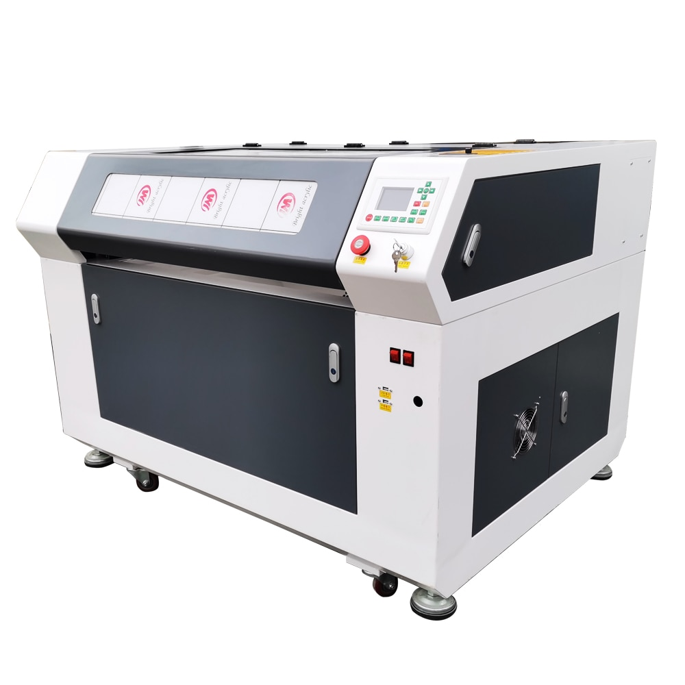 Sign Cut Reci 100w 9060 Laser Cutting Machine Ruida 6445g Control System Desktop Laser Machine With CW3000 Water Chiller