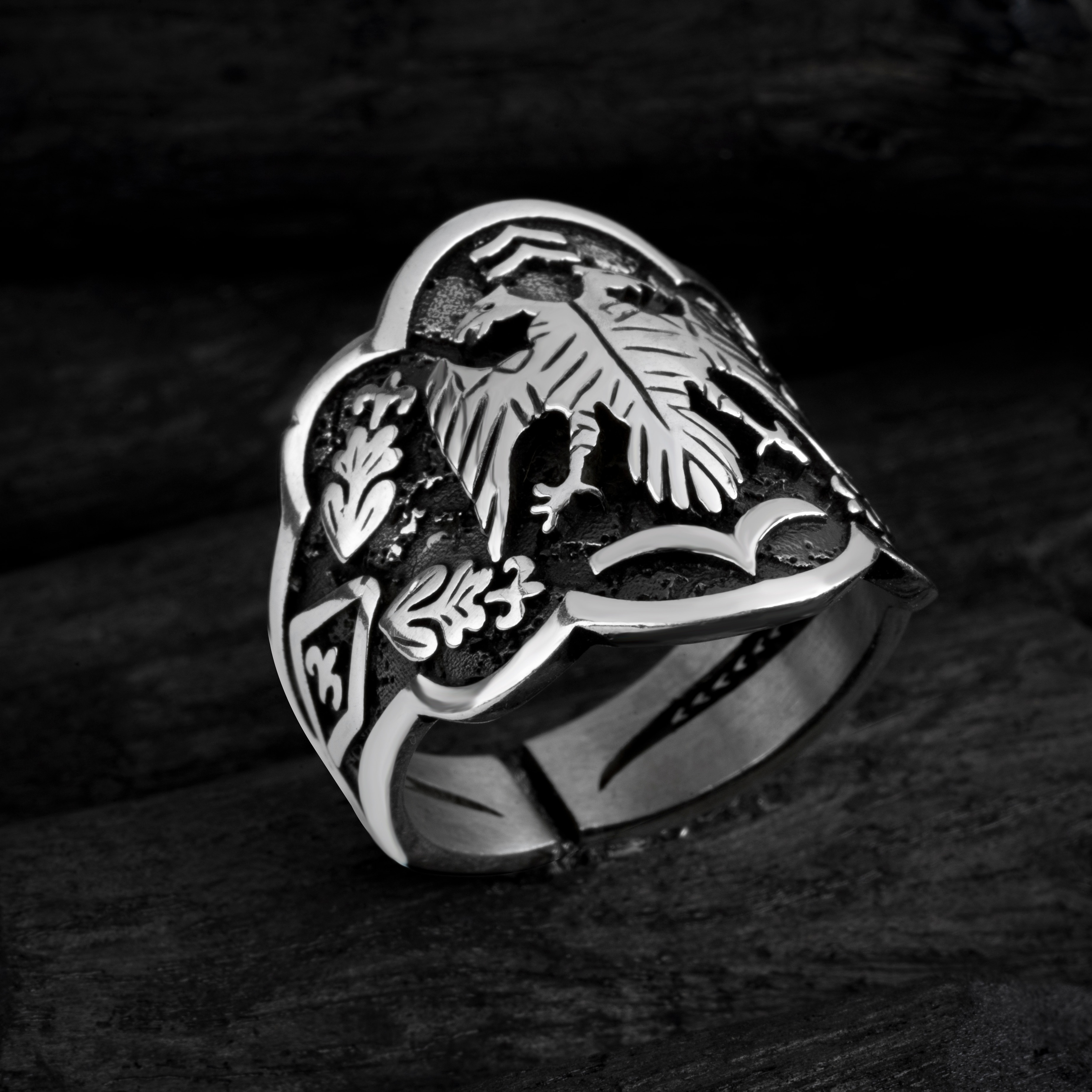 High-quality 925 Sterling Silver Jewelry made in Turkey (Ertugrul ring), Made in Turkey in a luxurious way for men with gift