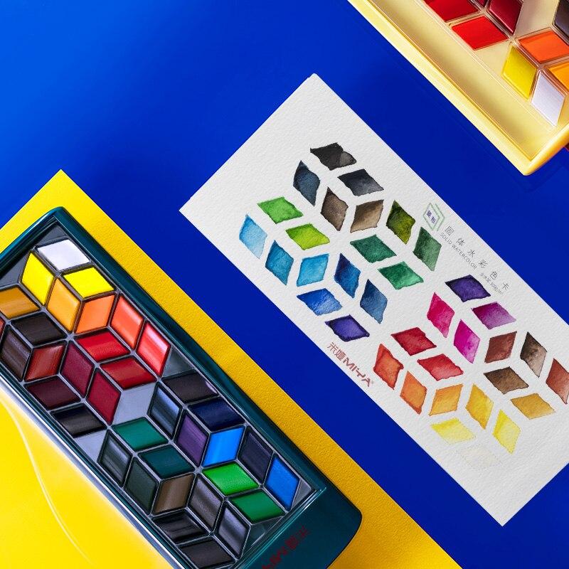 HIMI Watercolor Paint Set, Premium Paint Box with 12/24/36 Colors Pigment,1 Hook Line Pen,1 Drawing Pencil, Paper Pad enlarge