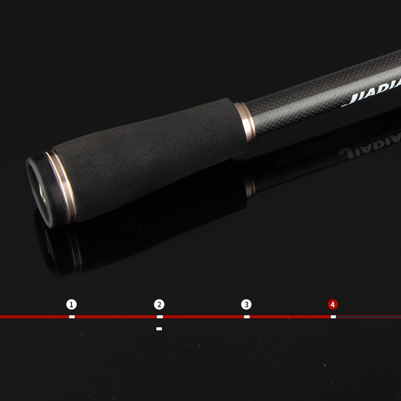 JIADIAONI 1.68-2.4M Fishing Rod Super Hard Carbon Fiber Casting Rod Light Weight enlarge