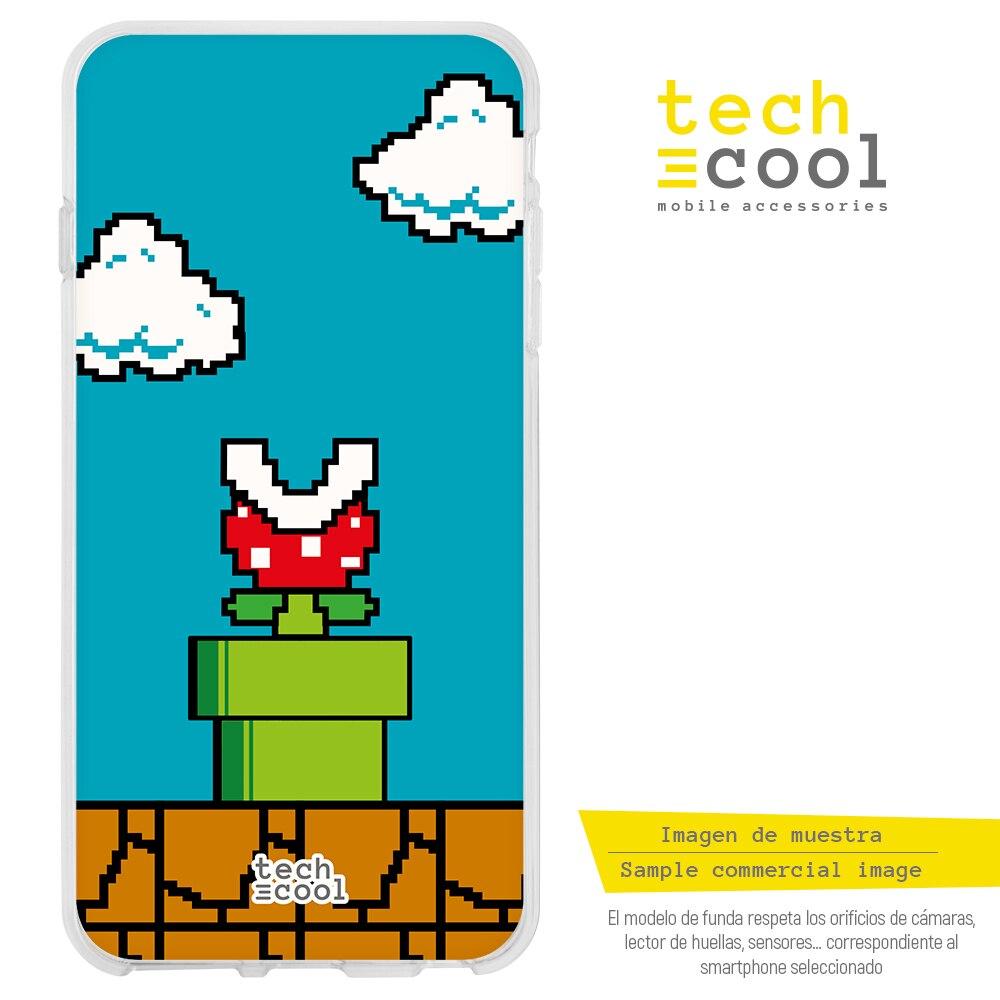 FunnyTech®Coque en Silicone pour Iphone X / XS l design Nintendo Super mario 8 Bits vers.4