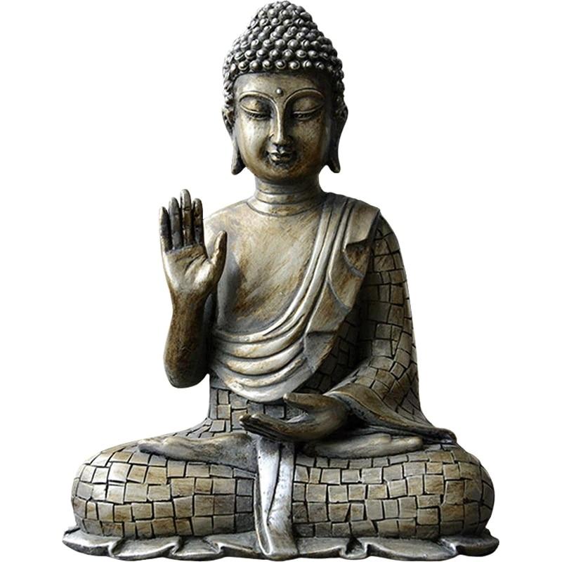 Estatua budista de estilo chino de cobre, Sakyamuni Bodhisattva, estatua de Buda de la India, escultura Vintage de Buda, decoración artesanal