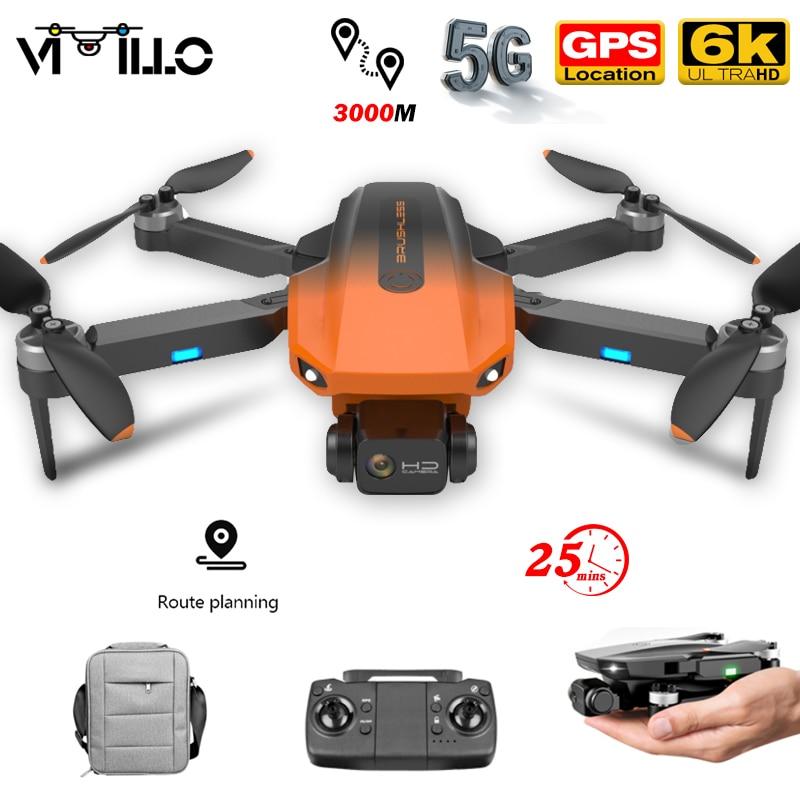 RG101 جديد لتحديد المواقع بدون طيار 6K HD كاميرا المهنية 5G واي فاي FPV درون التصوير الجوي فرش السيارات طوي كوادكوبتر اللعب 1200M