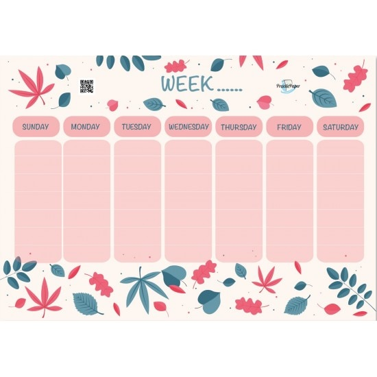 Practicpaper Magnet Weekly Planner Easy Operation Cost Kitchen Cabinet  Different Design Gift Stickers 7 Days Colorful Alive