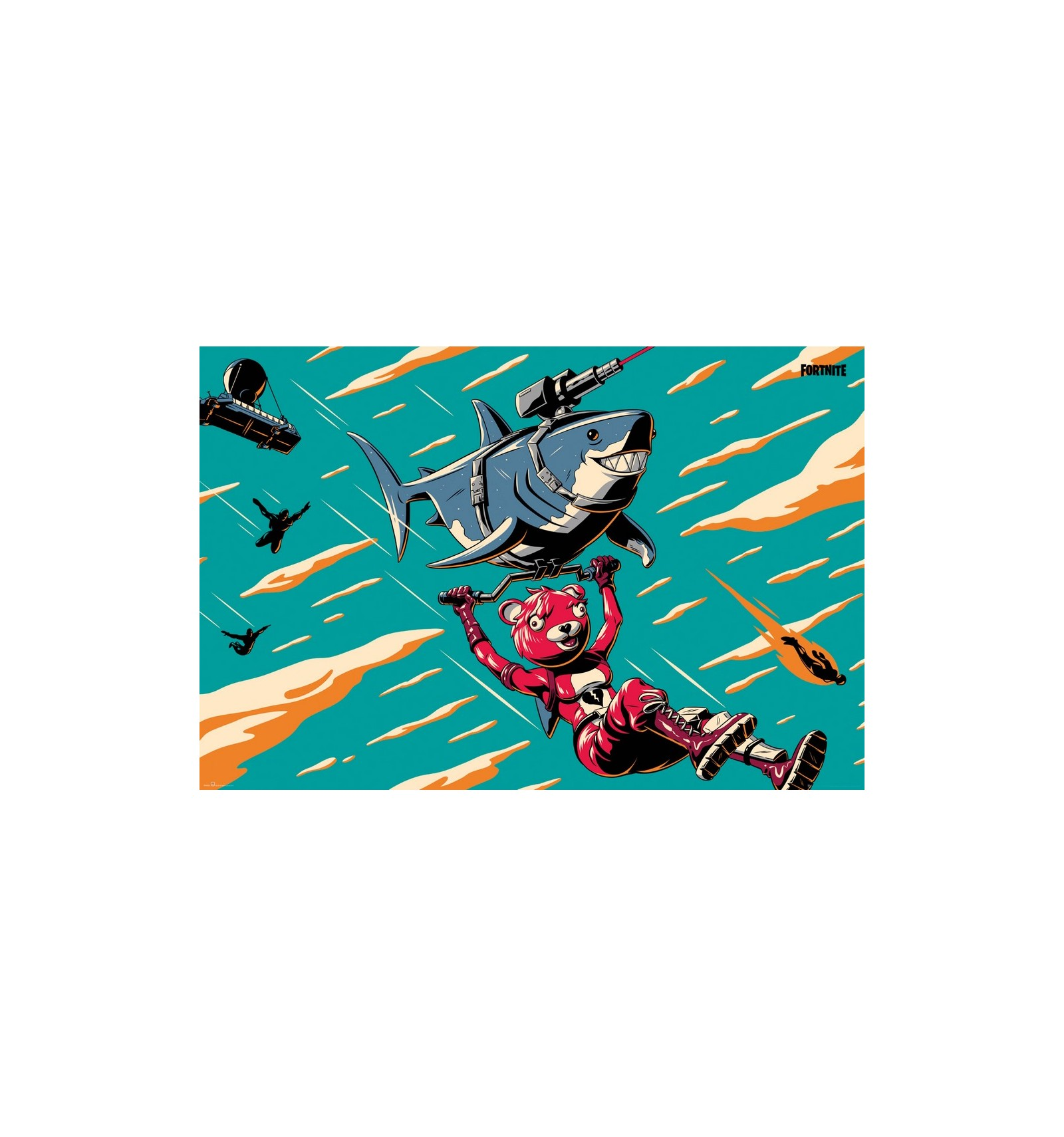 Poster fortnite laser tubarão