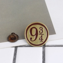 Classic Four College Pins Platform 9 3/4 Enamel Brooches For Fans Bag Hat Accessory