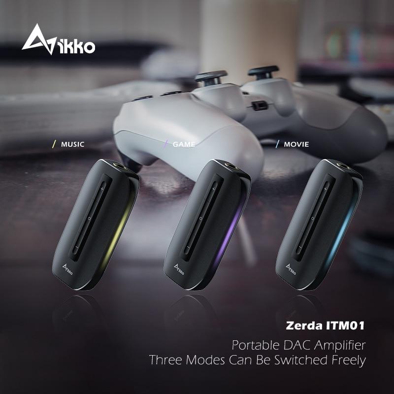 IKKO Zerda ITM01 USB DAC التبديل الألعاب كارت الصوت نوع C إلى 3.5 مللي متر سماعة Hifi مضخم الصوت للهاتف PC ماك مهائي كابلات