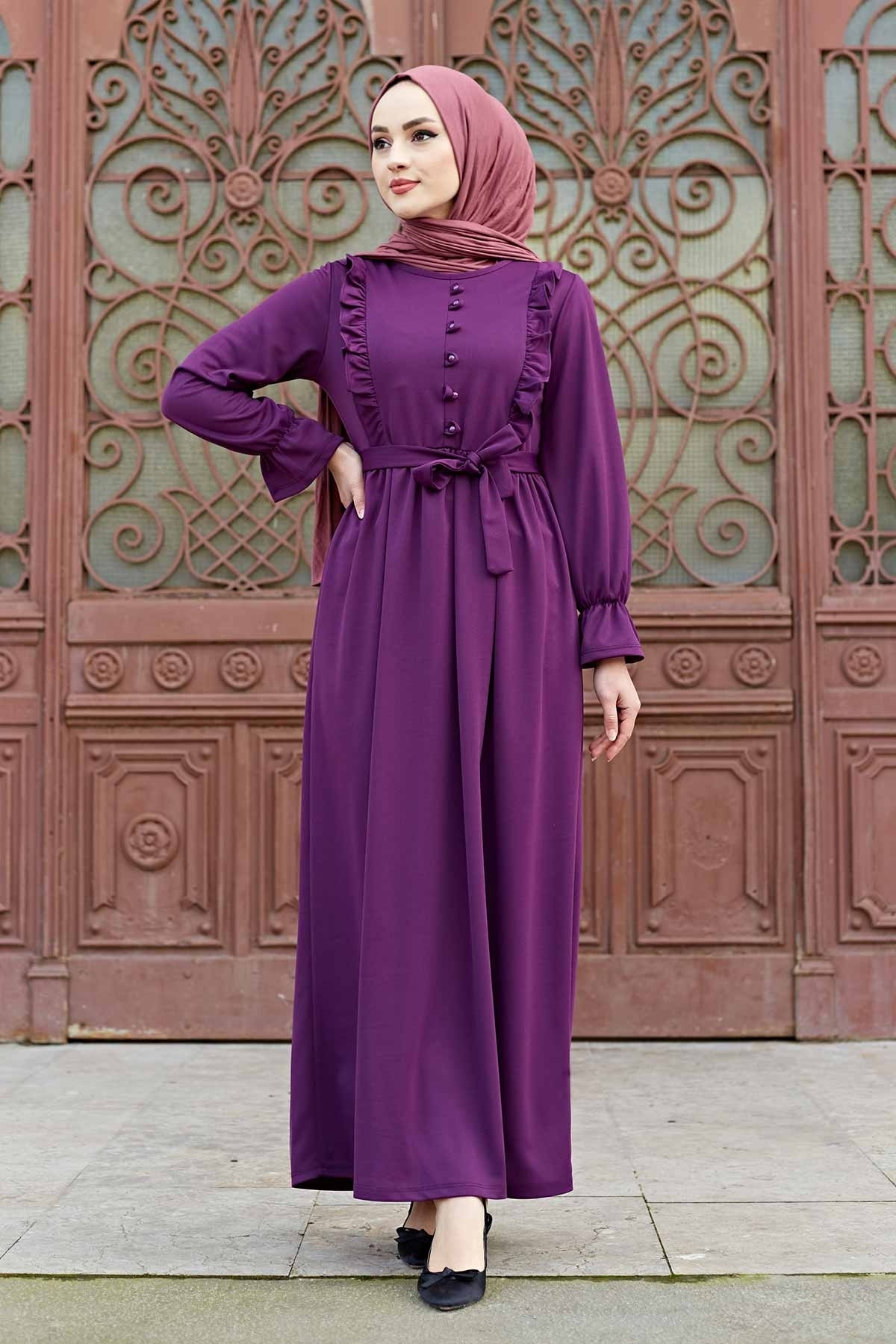Abaya Long Muslim Women's Dress 2021 Islamic Clothes Turkey Dubai Abaya  kaftan dresses for women modest abayas for women cross border women s clothing vintage printed palace style large swing dress dubai long dress clothes for muslim women