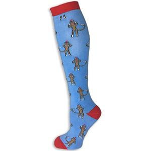 Pramoda Monkey Design Horse Riding socks women Knee High Socks Equestrian socks
