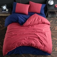 cotton touch plain series double sided red navy blue single duvet cover set made i%cc%87n turkey