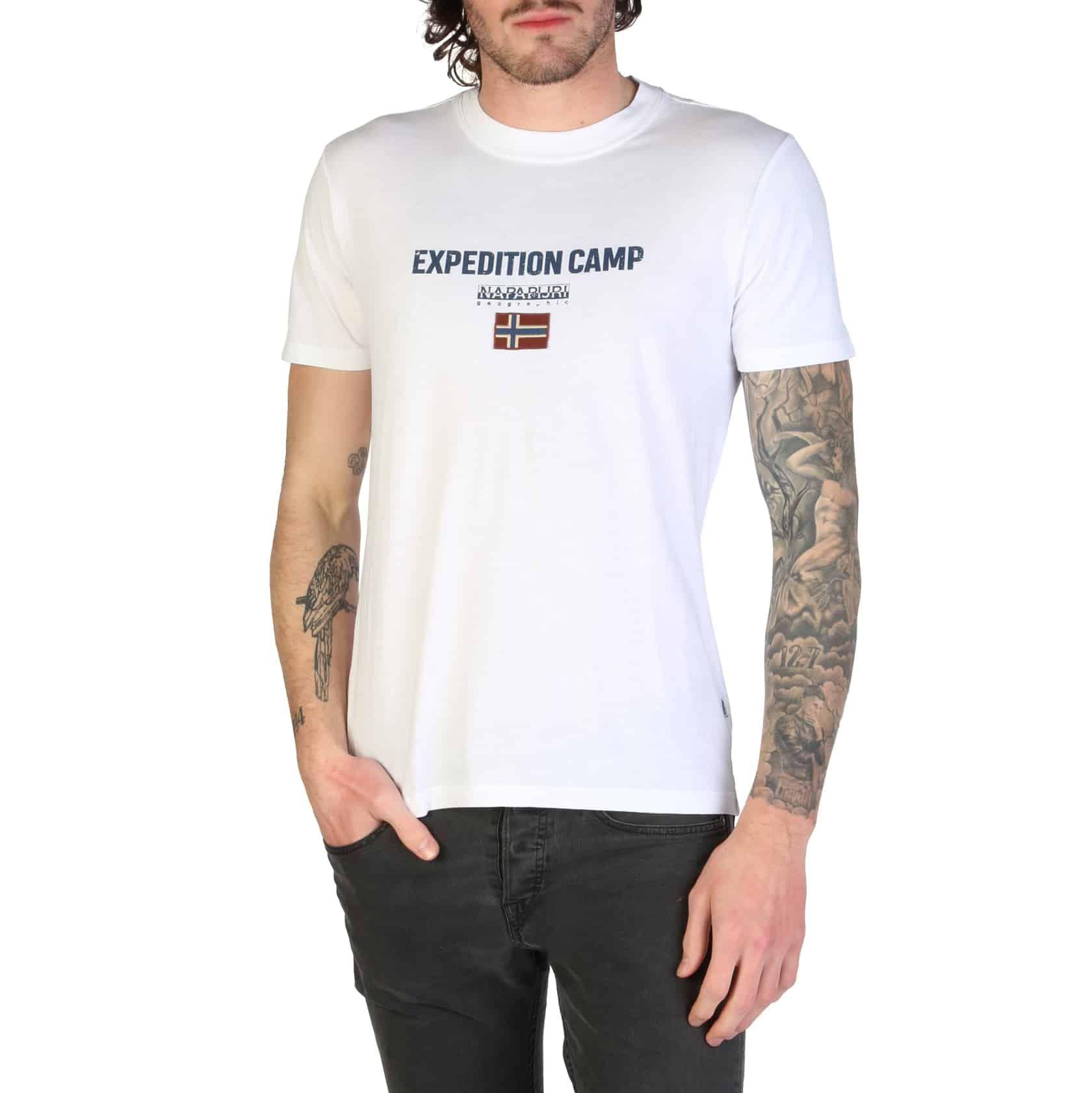 Napapijri - SONTHE _ N0YIIX-White גברים של חולצה, גברים של בגדים