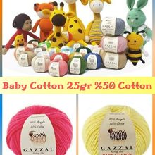 Amigurumi Cotton Knitted Yarn 58 Color Options 82 Meters(25gr) Hand Knitting Yarn Ball - Gazzal Baby