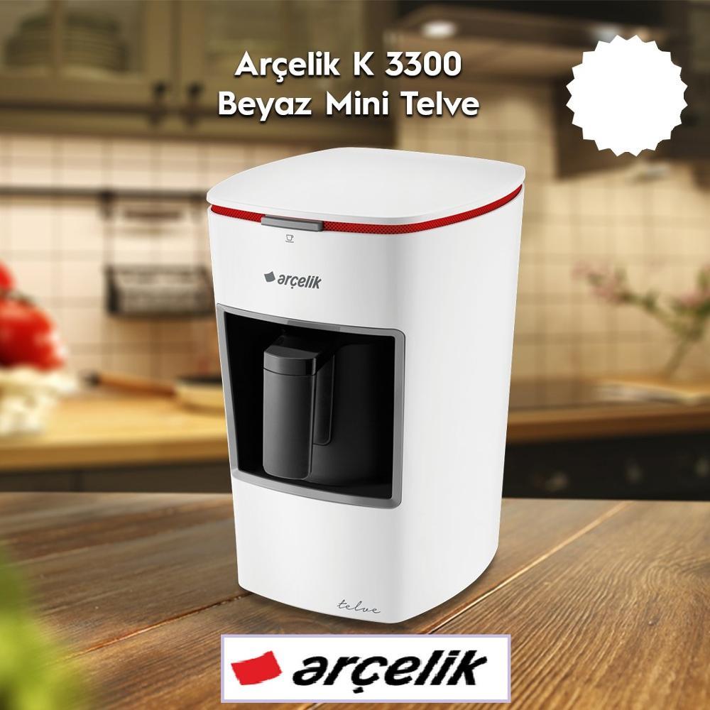 Mini cafetera turca automática Arcelik K3300, cafetera de uso doméstico, cafetera Moka de grado alimenticio, aparato de cocina
