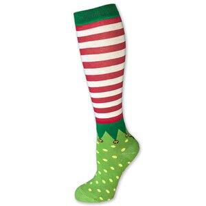 Pramoda Christmas Horse Riding socks women Knight Long Socks Equestrian boots long sport socks